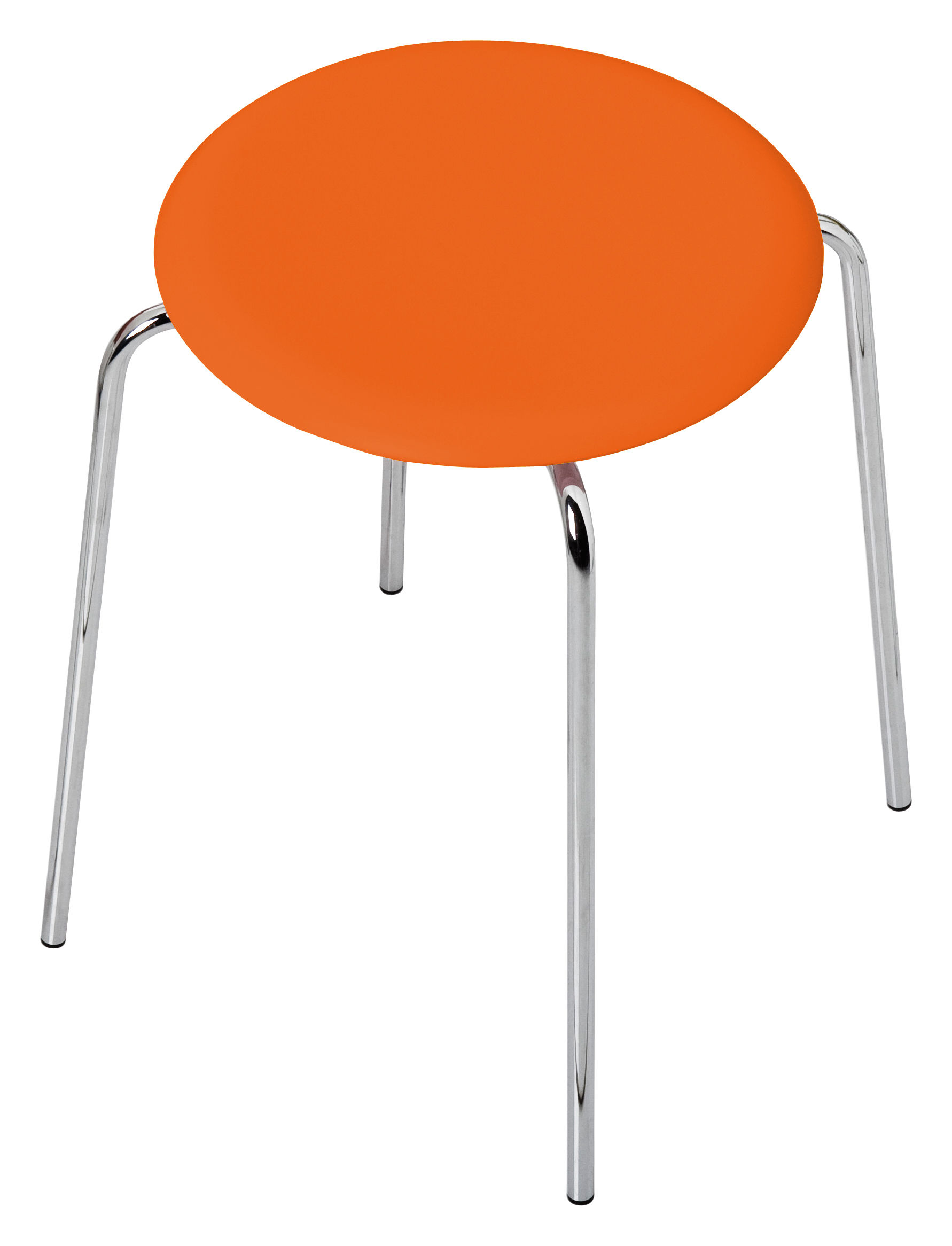Dot Stackable Stool H 44 Cm Stained Ash Orange Tainted