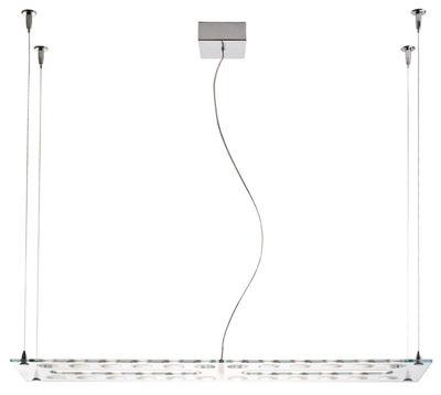 Suspension pulse led 110 x 30 cm transparent fabbian for Alessi porte prezzi