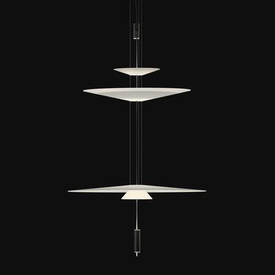 Luminaire - Suspensions - Suspension Flamingo LED / Ø 90 x H 155 cm - Vibia - Graphite mat / Blanc - Acrylique, Métal, Méthacrylate