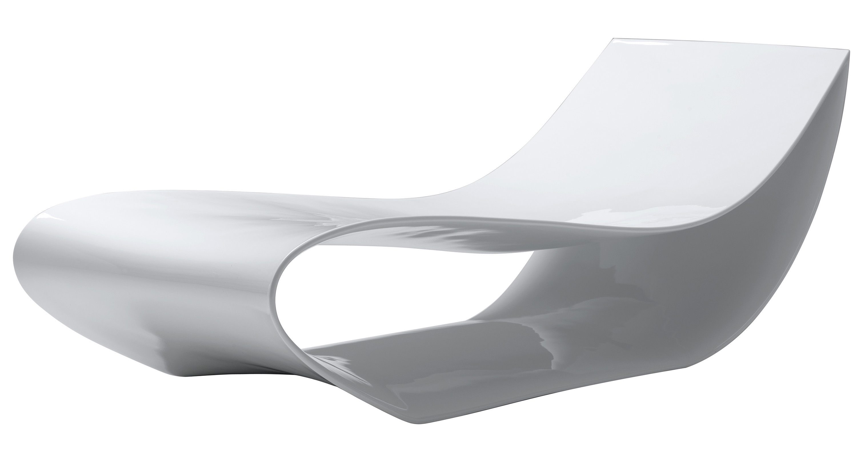 Sign Reclining chair White lacquered by MDF Italia