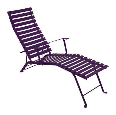Chaise longue Bistro - Fermob aubergine en métal