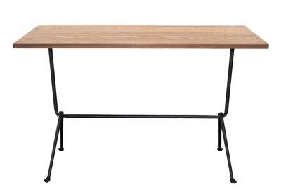 Table Officina Bistrot Outdoor / 120 x 60 cm - Plateau frêne - Magis noir,frêne foncé en métal