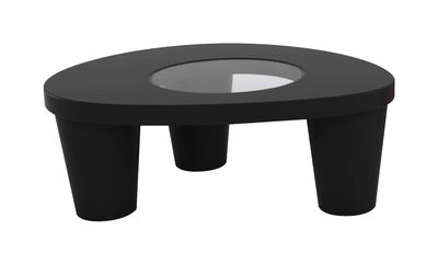 Table basse Low Lita - Slide noir en verre