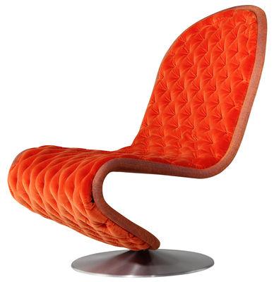 Foto Poltrona bassa 123 Deluxe - / Tessuto imbottito by Raf Simons -  Edizione limitata di Verpan - Arancione - Metallo