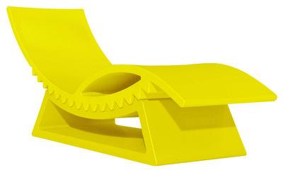 Foto Chaise longue TicTac - con tavolino basso di Slide - Giallo - Materiale plastico