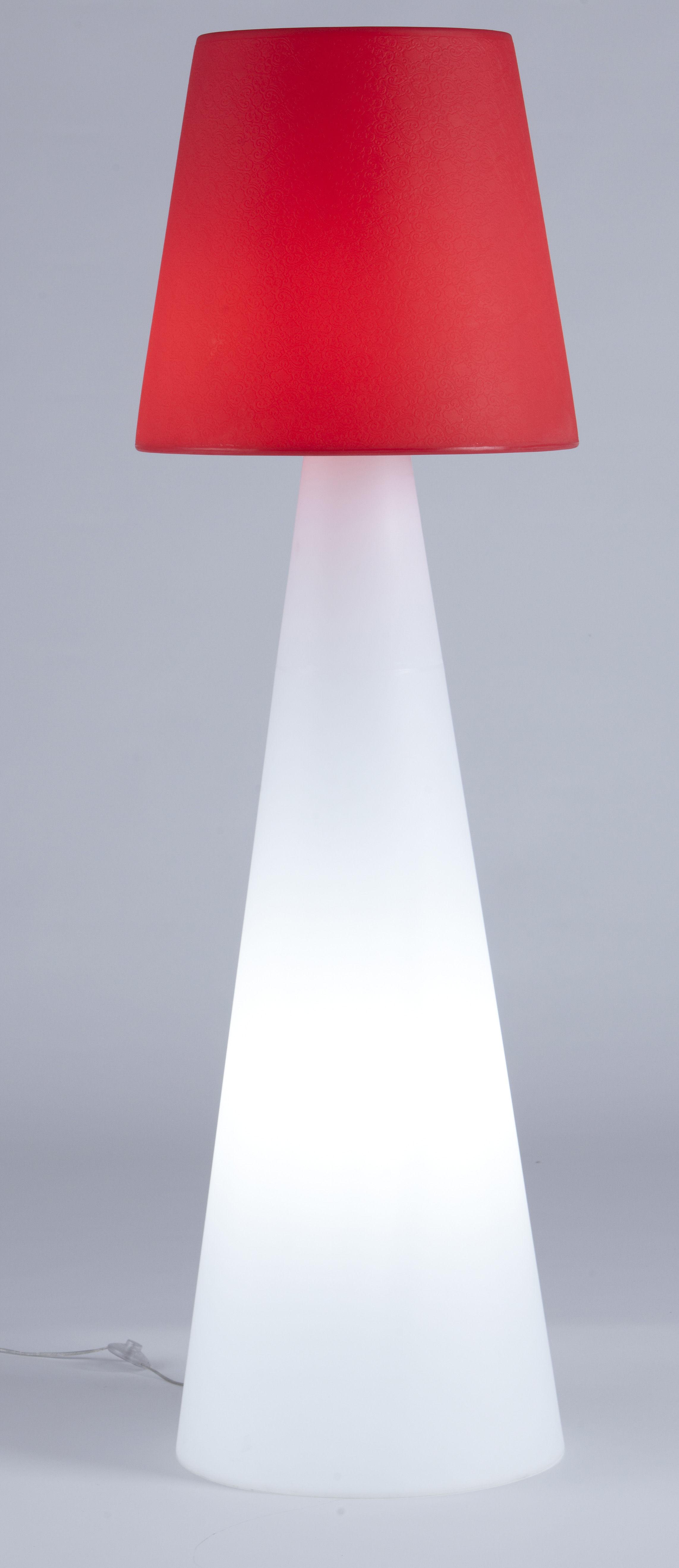 Pivot Stehleuchte Rot / Ständer weiß by Slide | Made In Design