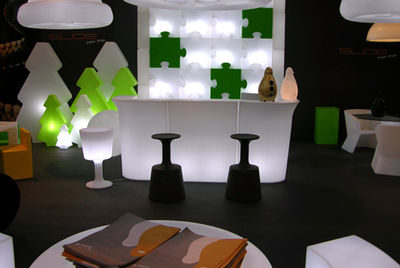 lampe de table p o p cloison lumineuse modulable blanc slide. Black Bedroom Furniture Sets. Home Design Ideas