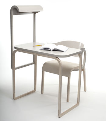 bureau perch avec lampe int gr e noir sp cimen editions made in design. Black Bedroom Furniture Sets. Home Design Ideas
