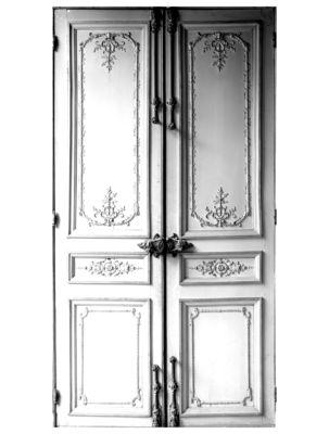 Sticker Porte Haussmannienne Modèle d'exposition Maison Martin Margiela blanc,gris en tissu