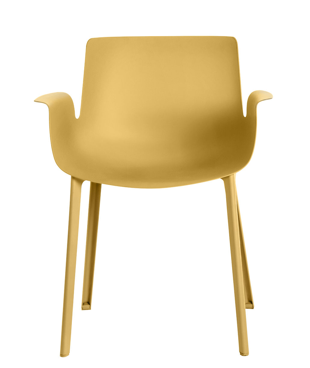 fauteuil piuma plastique jaune moutarde kartell. Black Bedroom Furniture Sets. Home Design Ideas