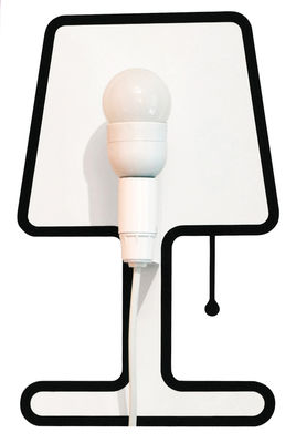 Applique avec prise Tiny Lampe / Set sticker + kit électrique - Pa Design noir en matière plastique