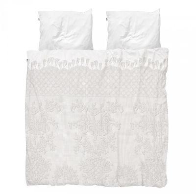Déco - Textile - Parure de lit 2 personnes Venice / 240 x 220 cm - Snurk - Cochet blanc - Percale de coton