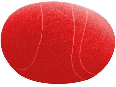 Foto Pouf Carla - Livingstones Laine - Per l'interno - 70x60 cm di Smarin - Rosso - Tessuto