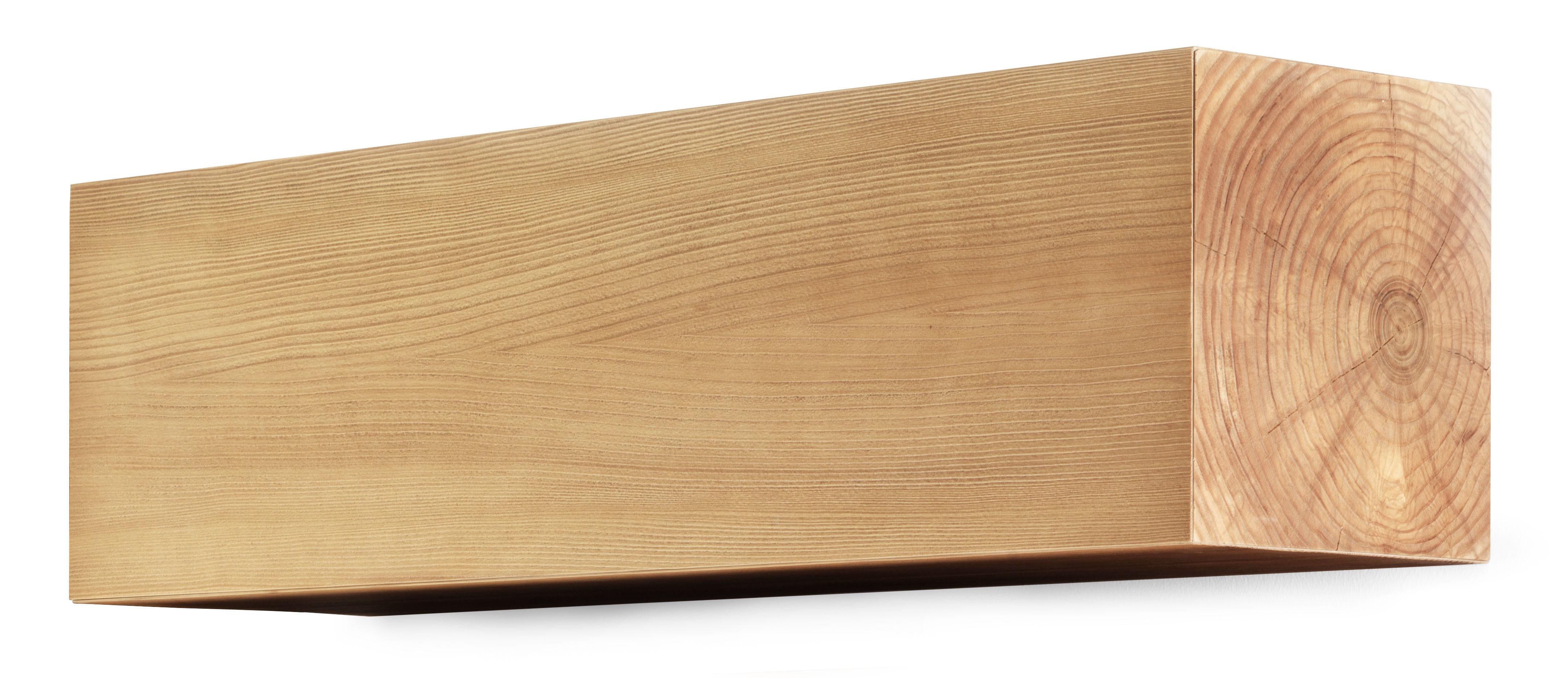 Corteccia portaoggetti da parete l 90 x h 36 cm legno - Portaoggetti da muro ...