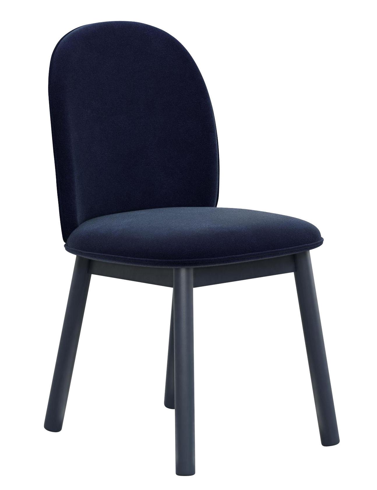 Ace sedia imbottita velluto legno velluto blu scuro for Sedie design velluto