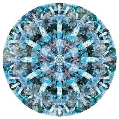 Déco - Tapis - Tapis Crystal Ice / Ø 350 cm - Moooi Carpets - Tons bleus - Polyamide