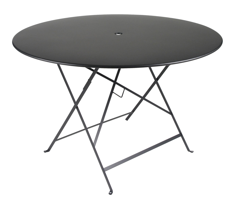 Table pliante bistro 117 cm 6 8 personnes trou parasol r glisse fermob - Table pliante 6 personnes ...