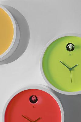 Horloge murale Plex à coucou Cadre bois / cadran blanc ...