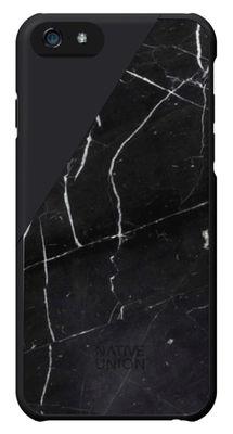 Coque iPhone 6 Clic Marble Marbre véritable Native Union noir en matière plastique