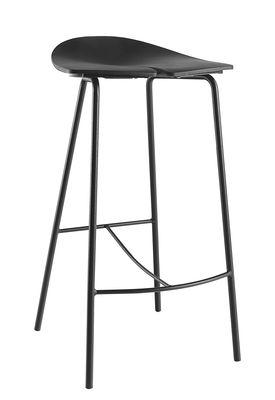 Foto Sgabello da bar Ant / H 68 cm - Plastica & piedi metallo - Ondarreta - Nero - Metallo Sgabello bar