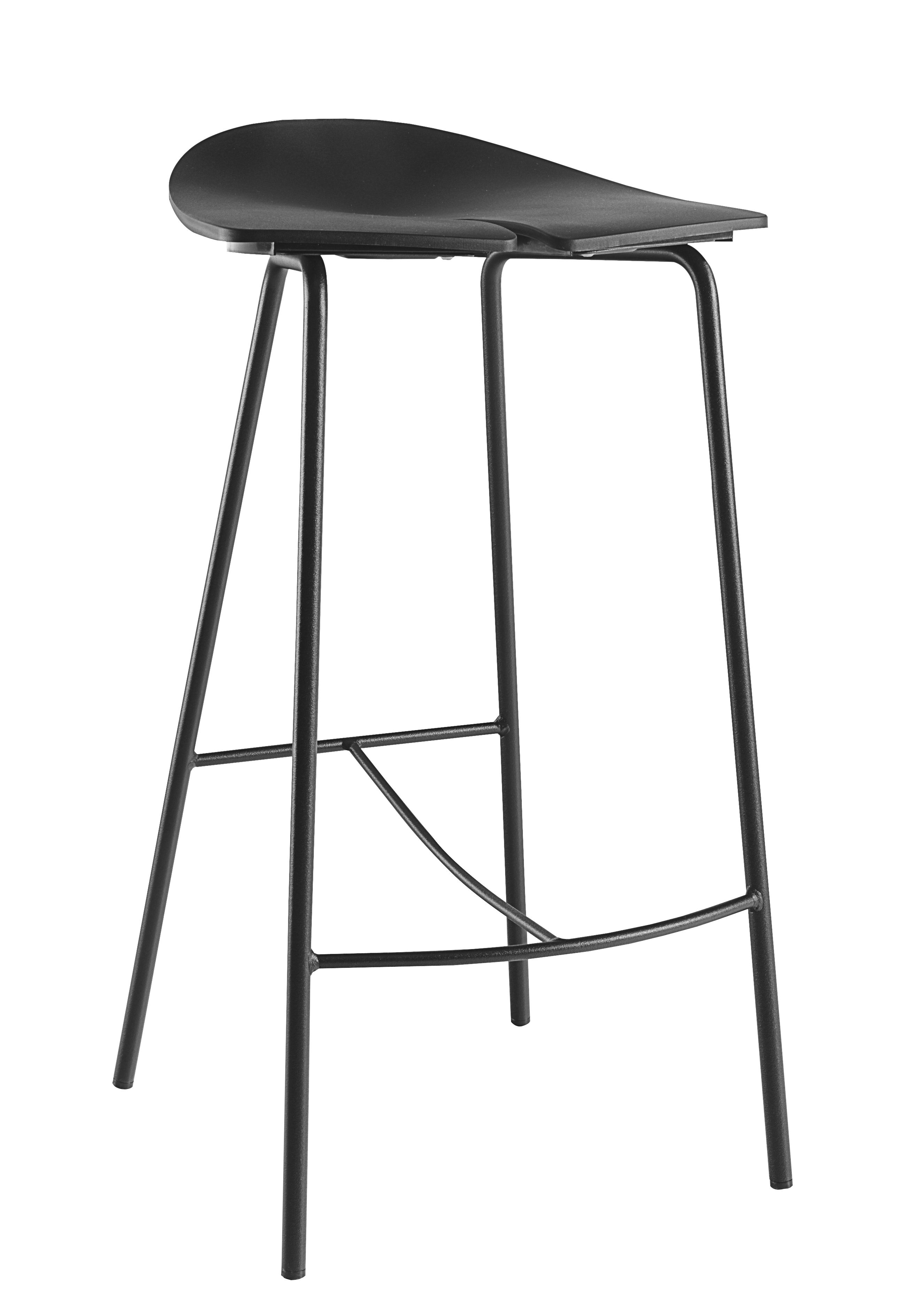 tabouret de bar ant h 68 cm plastique pieds m tal noir ondarreta. Black Bedroom Furniture Sets. Home Design Ideas
