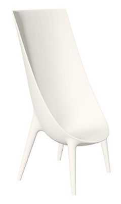 Furniture - Chairs - Out-In Armchair - High backrest by Driade - White - Polythene