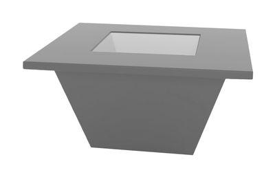 Table basse Bench / Plateau en verre - Slide gris en verre
