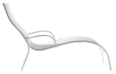 Jardin - Chaises longues et hamacs - Chaise longue Paso Doble - Magis - Blanc / structure blanche - Aluminium verni, Toile
