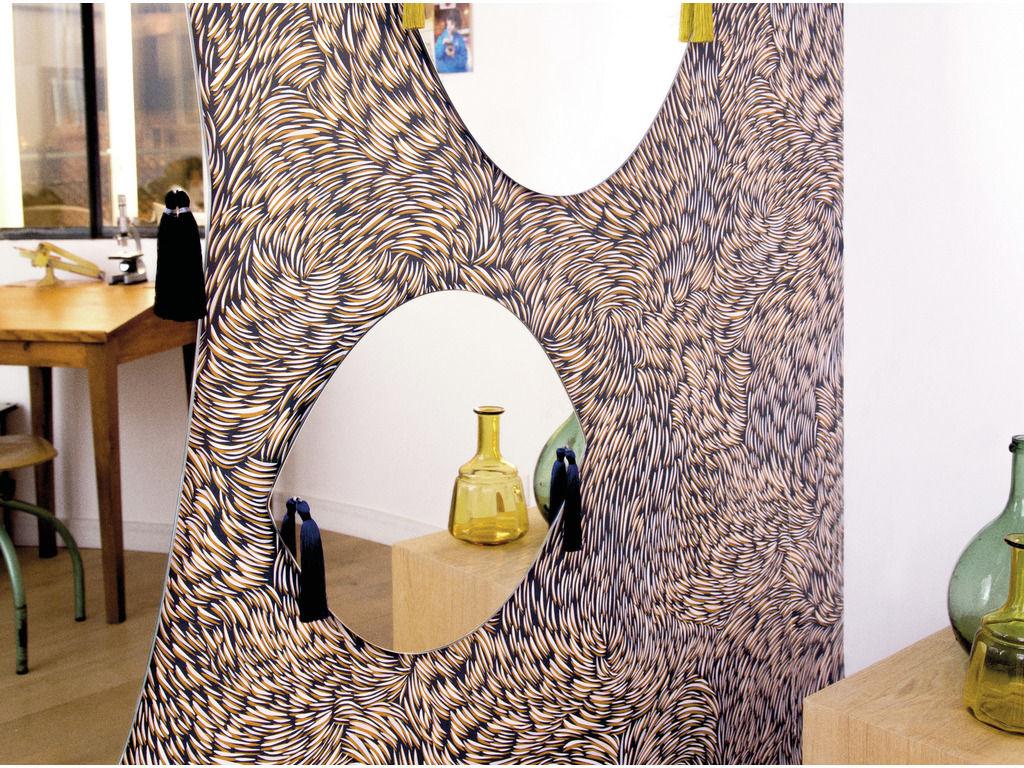papier peint volutes 1 rouleau larg 70 cm noir petite friture. Black Bedroom Furniture Sets. Home Design Ideas