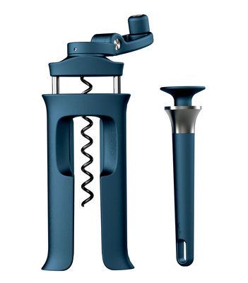 Décapsuleur BarWise / Tire bouchon + décapsuleur magnétique - Joseph Joseph bleu en métal