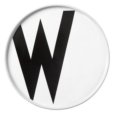 Assiette Arne Jacobsen Porcelaine Lettre W Ø 20 cm Design Letters blanc en céramique