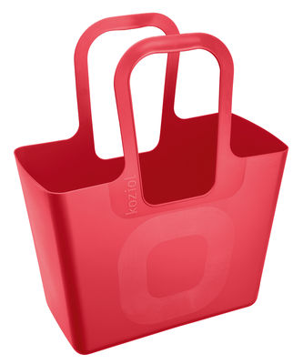 Decoration - For bathroom - Tasche XL Basket by Koziol - Raspberry red - Plastic material