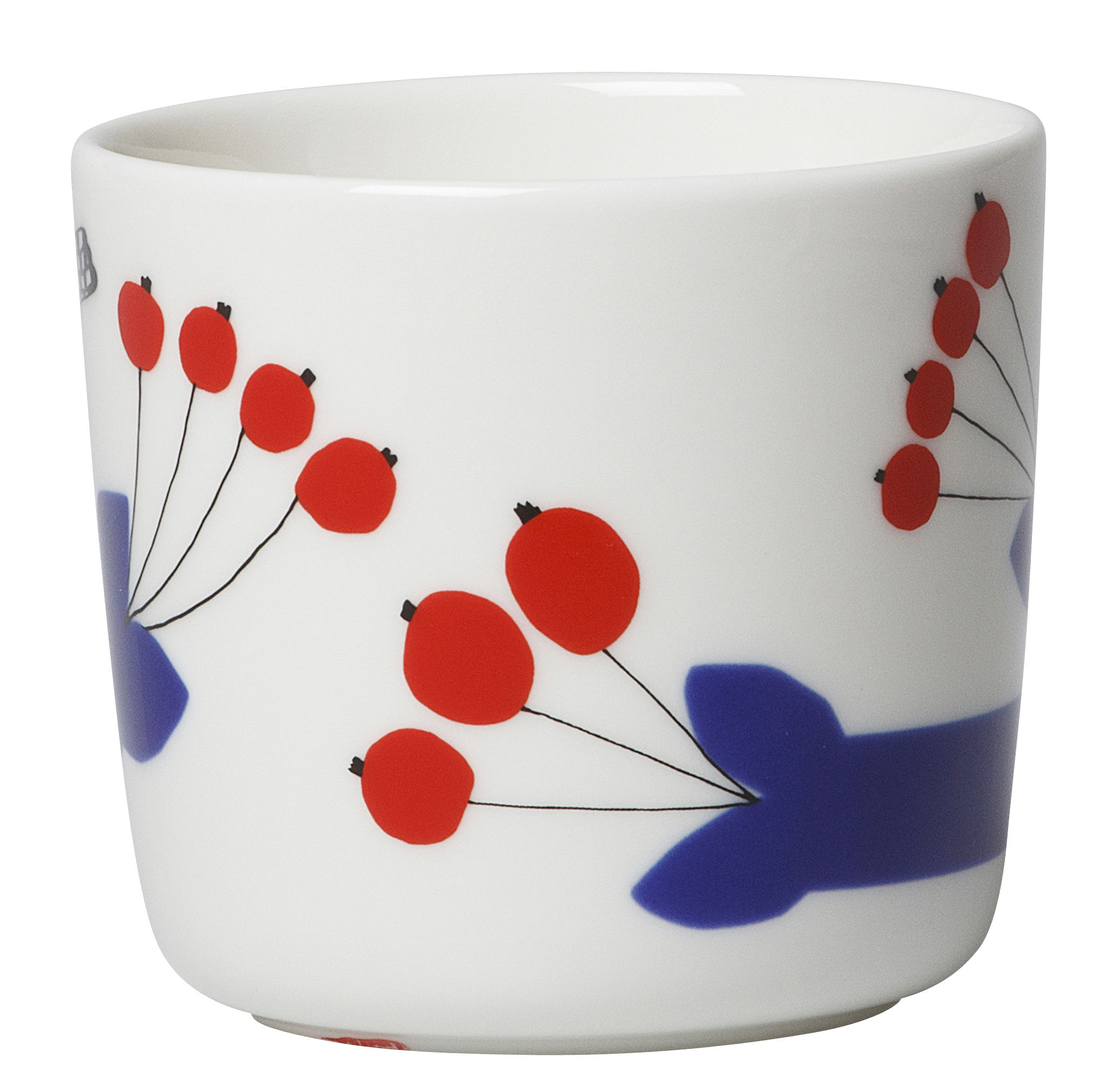 pakkanen kaffeetasse ohne henkel 2er set pakkanen wei blau rot by marimekko made. Black Bedroom Furniture Sets. Home Design Ideas