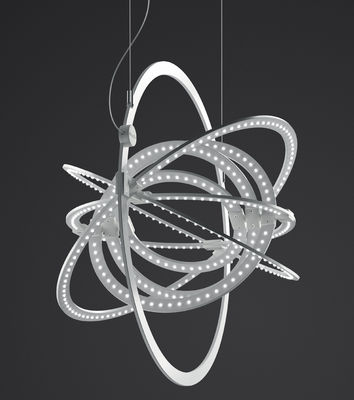 Foto Sospensione Copernico LED - / modulabile - Ø 49 cm di Artemide - Bianco - Metallo