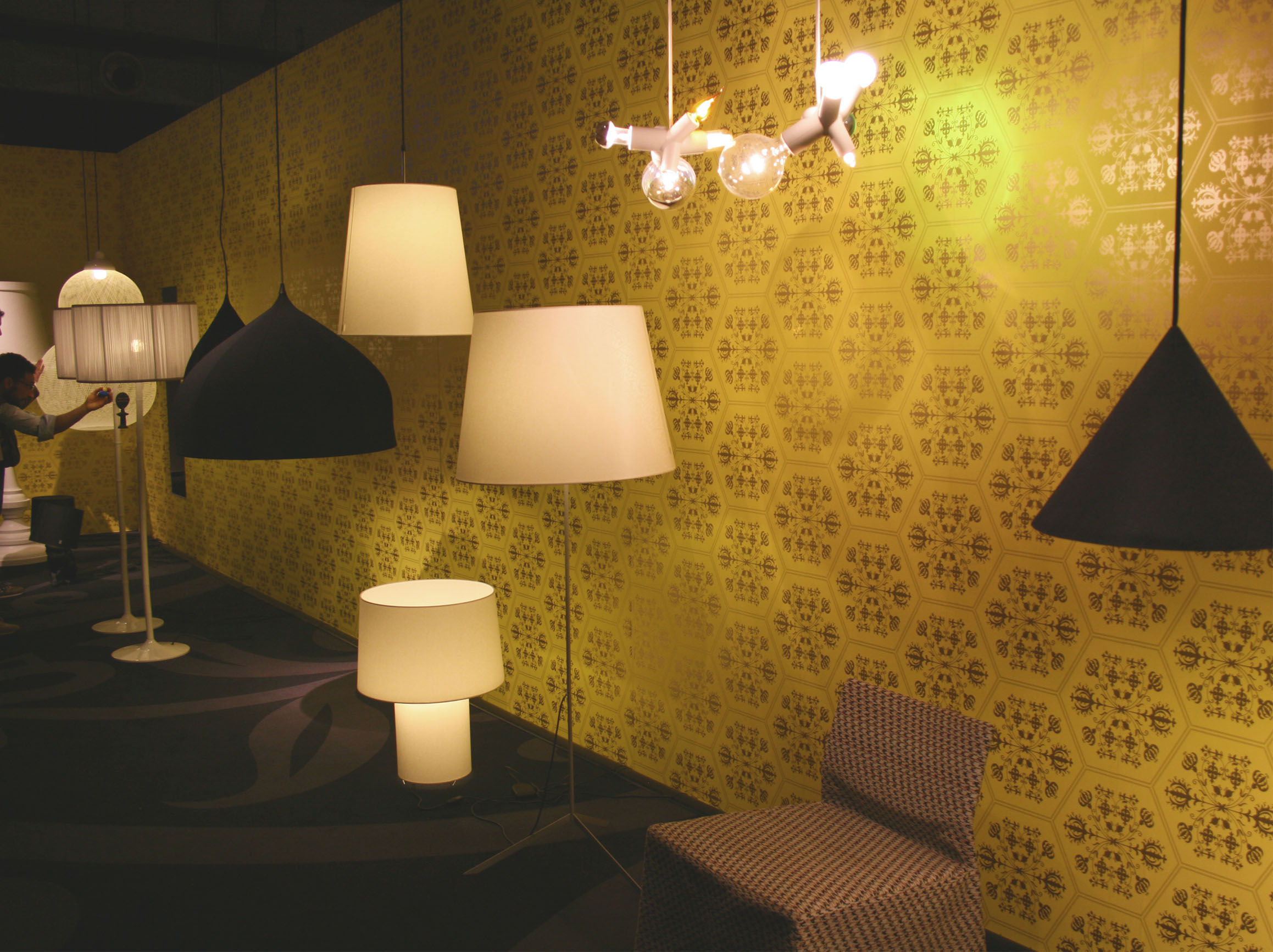 lampe de table double round light blanc moooi. Black Bedroom Furniture Sets. Home Design Ideas