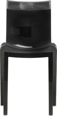 Foto Sedia impilabile Hi Cut - Struttura nera laccata di Kartell - Grigio,Nero laccato - Materiale plastico