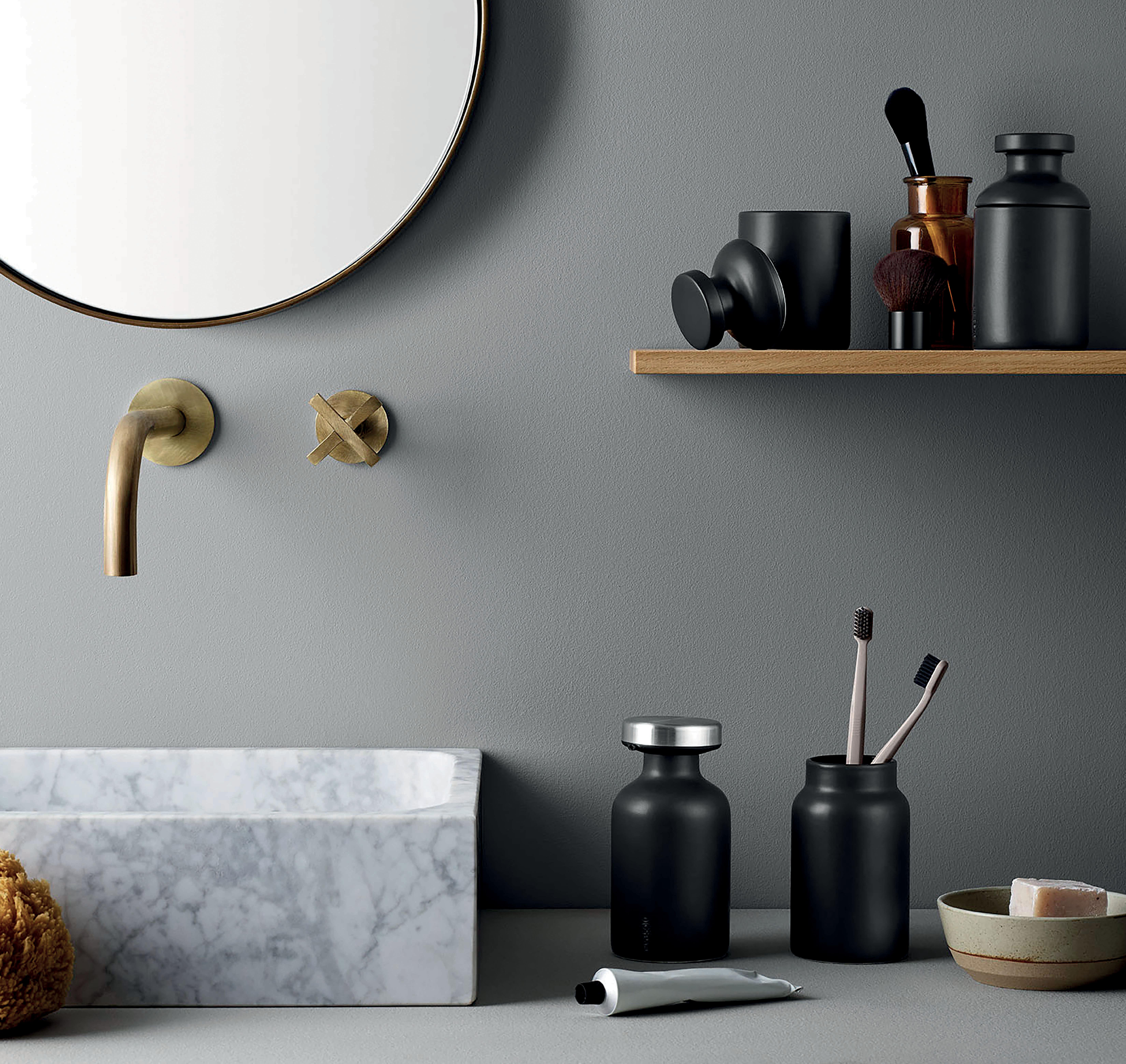 seifenspender mit deckel schwarzmatt by eva solo made in design. Black Bedroom Furniture Sets. Home Design Ideas