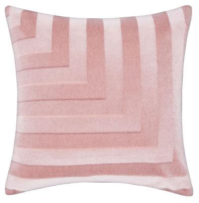 Coussin Déco / Velours - 60 x 60 cm - Tom Dixon rose en tissu
