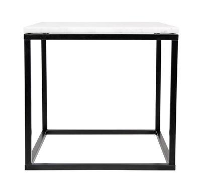 Marble Couchtisch / Marmor - 50 x 50cm - POP UP HOME - Weiß,Schwarz