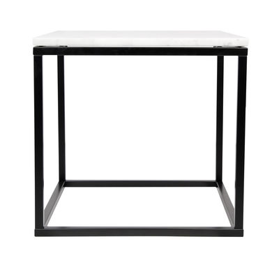 Tavolino basso Prairie / Marmo - 50 x 50cm - POP UP HOME - Bianco,Nero - Pietra
