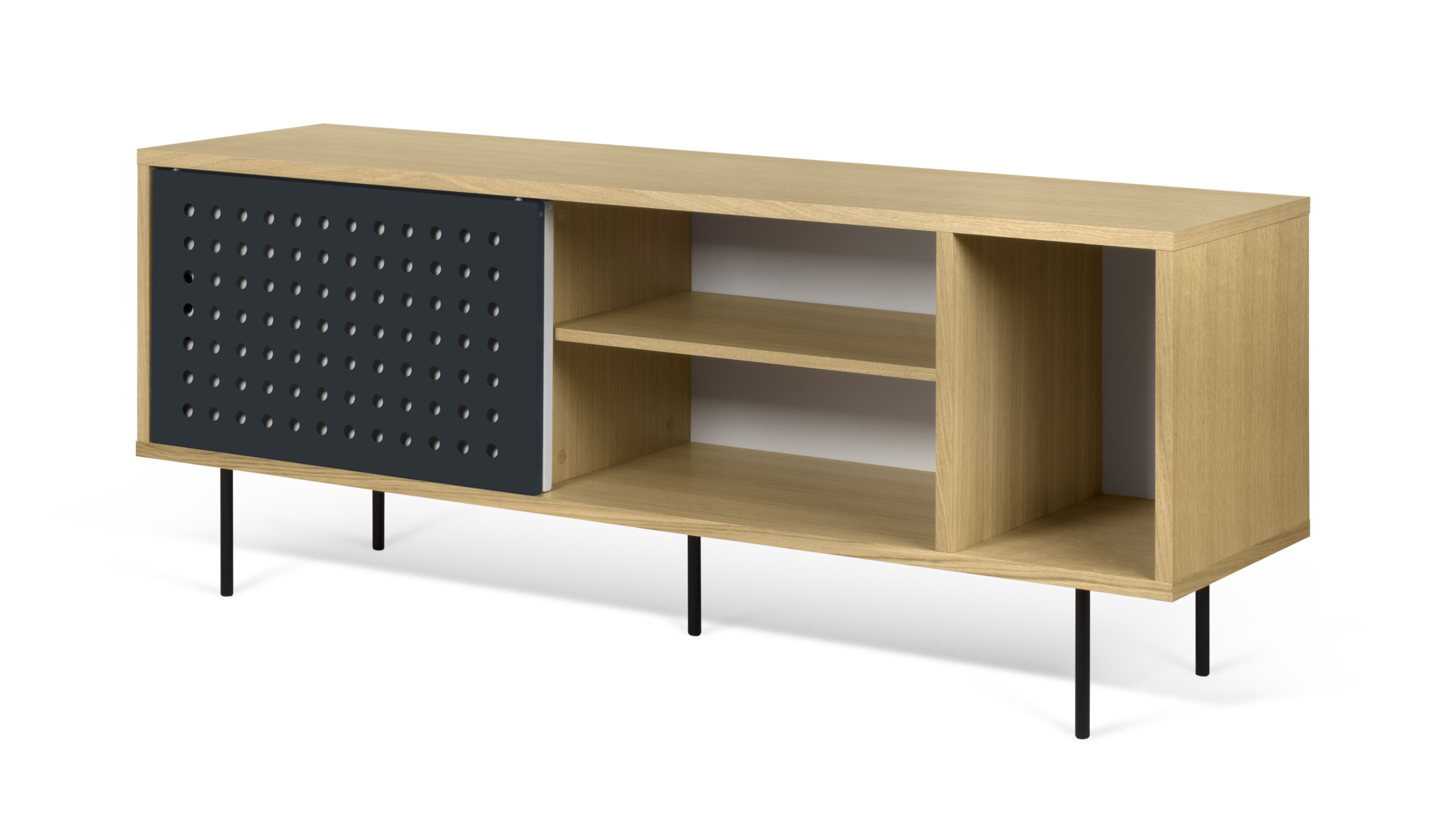 buffet amsterdam dots meuble tv l 165 cm l 165 cm ch ne blanc anthracite pop up home. Black Bedroom Furniture Sets. Home Design Ideas