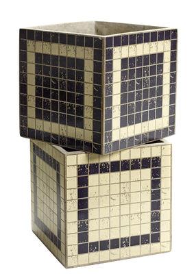 Pot Marie Mosaïque / 17x17 cm - Set de 2 - Serax noir,beige en céramique