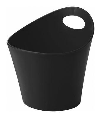 Pot Pottichelli / Cache-pot - Ø 17 x H 15 cm - Koziol noir en matière plastique