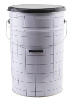Mobilier - Tabourets bas - Coffre The Bucket / Coffre - Assise rembourrée - House Doctor - Blanc & noir - Métal, Mousse, Similicuir