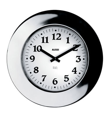Decoration - Wall Clocks - Momento Wall clock by Alessi - Steel - Stainless steel
