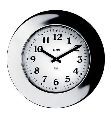 Déco - Horloges  - Horloge murale Momento - Alessi - Acier - Acier inoxydable