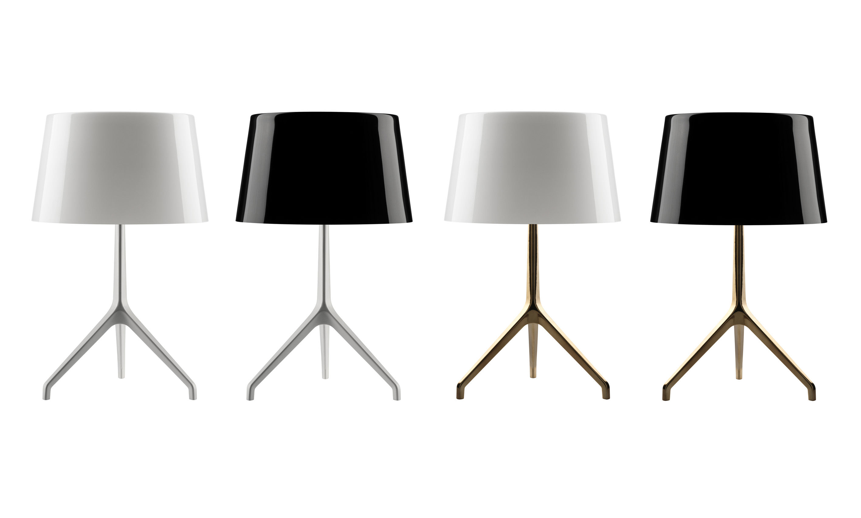 Lumi 232 Re Xxl Table Lamp Black Bronze Leg By Foscarini