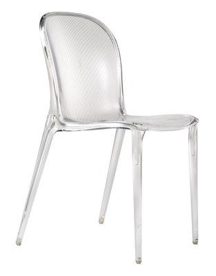Chaise empilable Thalya transparente Polycarbonate Kartell cristal en matière plastique