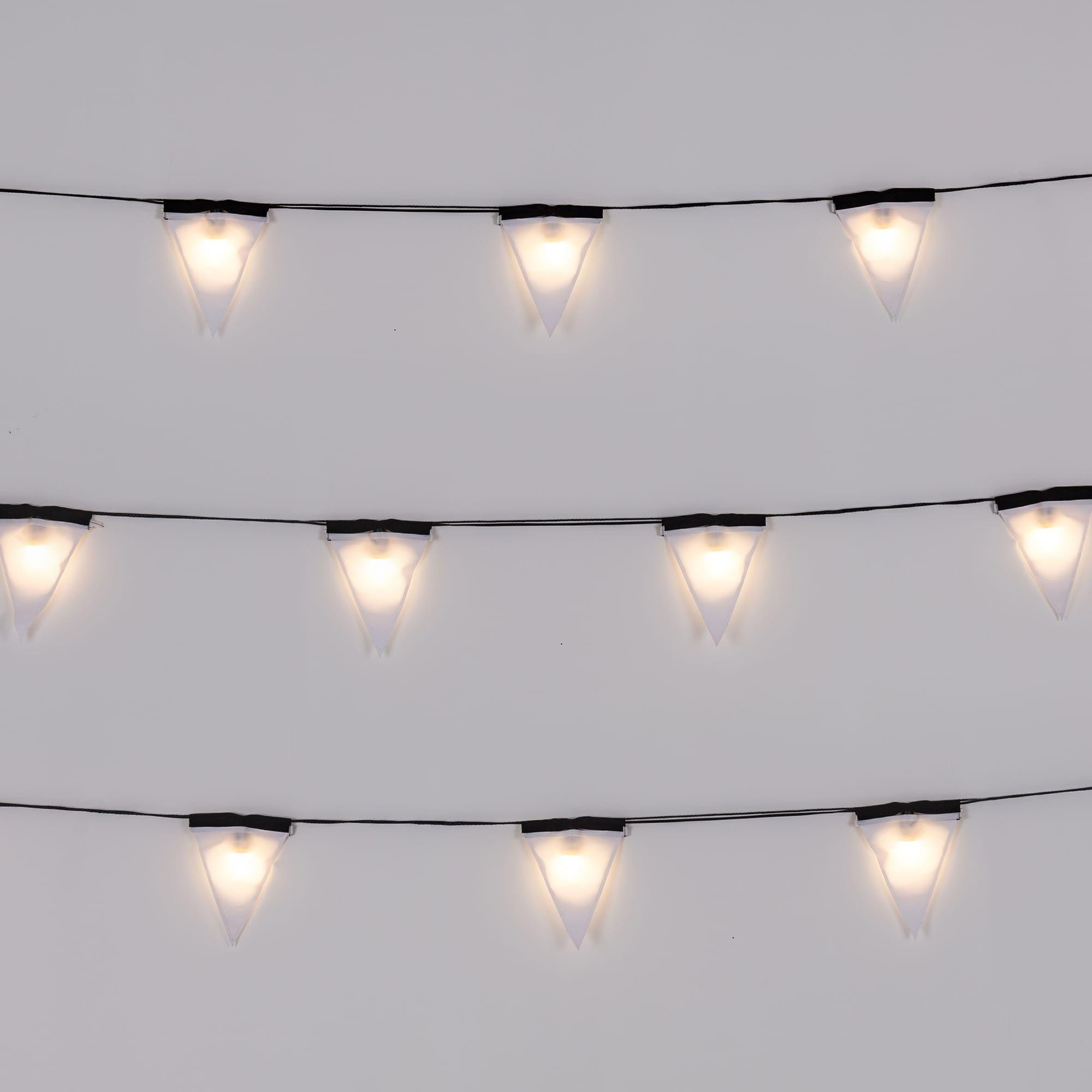Guirlande lumineuse sagra led 16 fanions tissu - Guirlande lumineuse interieur led ...