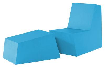 Foto Pouf Primary solo Ottoman di Quinze & Milan - Azzurro - Materiale plastico